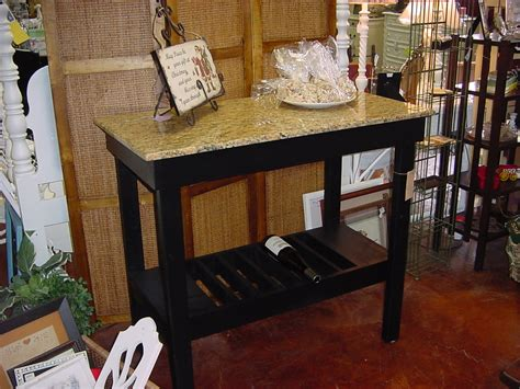 Granite Top Wine Bar Buffet Table Just Fine Tables