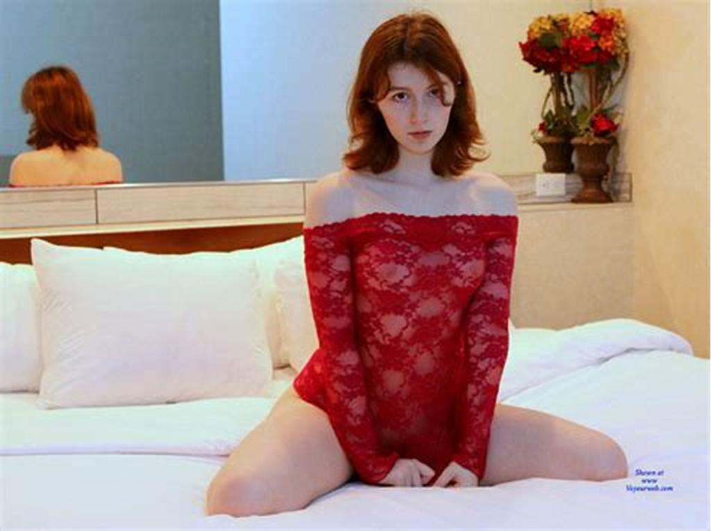 #Redhead #Teen #On #Bed #Wearing #See #Through