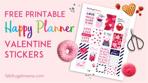 Latest in organization & labels. Free Printable Happy Planner Valentine Stickers - Fab ...