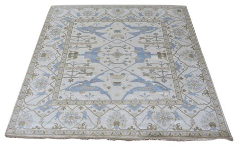 Area Rugs 9x9 by Oriental Rug Galaxy 9x9 Square Hand Knotted Ivory