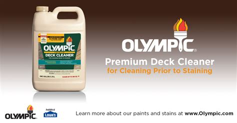 Olympic Deck Cleaner Directions by Olympic 174 Premium Deck Cleaner
