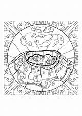 Volcano Coloring Volcan Anti Stress Coloriage Zen Adults Adult Eruption Complex Imprimer Colorear Mandala Colorare Volcanic Dessin Disegni Anxiety Adultos sketch template