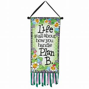 Life is all about how you handle Plan B Banner Canvas Wall