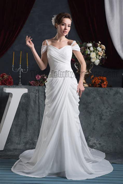 sheathcolumn   shoulder watteau train wedding dress