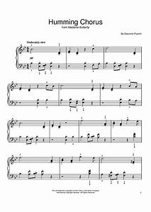 Humming Chorus (Butterfly) Sheet Music - For Piano and ...