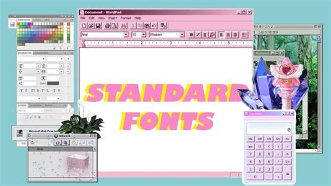 Standard Fonts Made Aesthetic