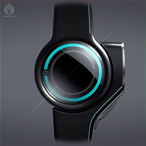 Tron inspired watch on Behance