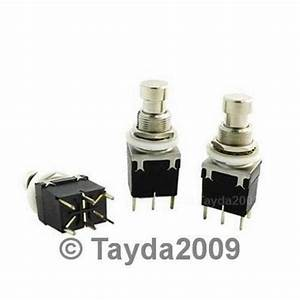 Dpdt Momentary Push Button Switch