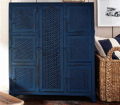 vintage locker blue cabinet