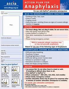 food allergy action plan and how this can be used in the With allergy action plan template