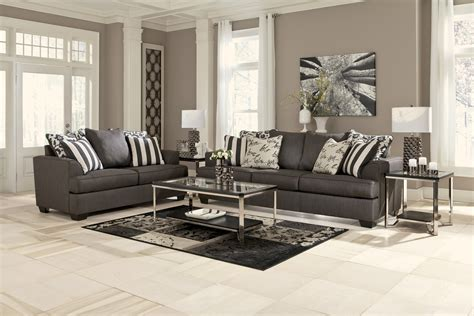sofa loveseat set levon collection charcoal sofa loveseat set