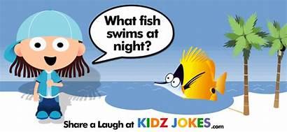 Fish Joke Swims Night Shark Jokes Ocean