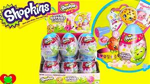 Shopkins Surprise Eggs with Sweets and Surprises - YouTube