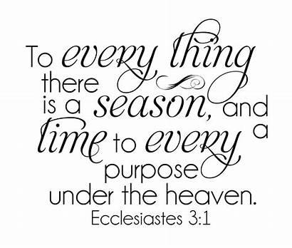 Ecclesiastes Seasons Word Scripture Bible Wordart Wednesday