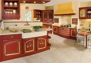 pose d39une cuisine de style provencale a perigueux acr With modele de cuisine provencale moderne