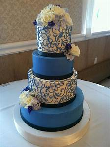 Cornflower Blue Buttercream Wedding Cake - CakeCentral com