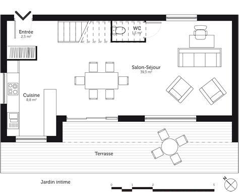table rectangulaire de cuisine plan maison à étage 110 m avec 3 chambres ooreka