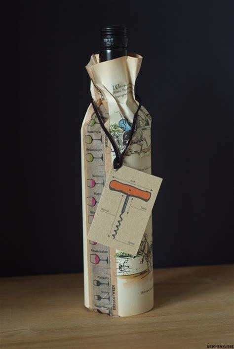 flaschen originell verpacken flaschen verpacken geschenk 10 kreative ideen wie sie