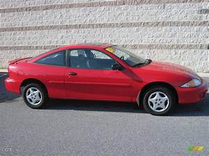 2001 Bright Red Chevrolet Cavalier Coupe #22063292 ...
