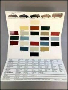1969 Vw Volkswagen Factory Color Paint Car Guide Brochure