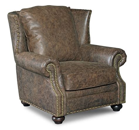 high quality leather chair with optional ottoman