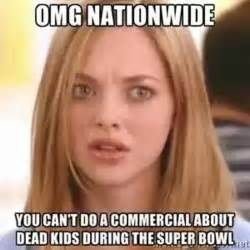 Commercial Memes - nationwide super bowl commercial meme causes twitter storm daily mail online
