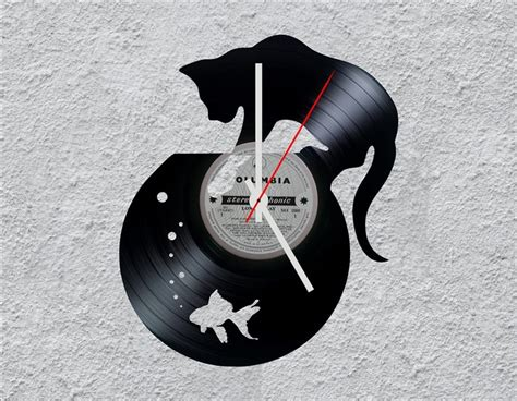 Cat Lp Vinyl Clock By Uber Cool Design Home Decor Tumblr Decorators Collection Promo Code Free Shipping Decoration Images India Styles Defined Things To Decorate Welcome Baby Decorations Betty Boop Plants For Decorating