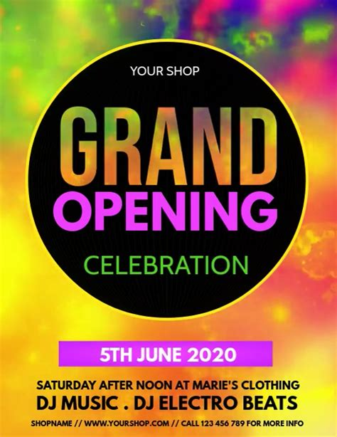 grand opening opening  launching  template