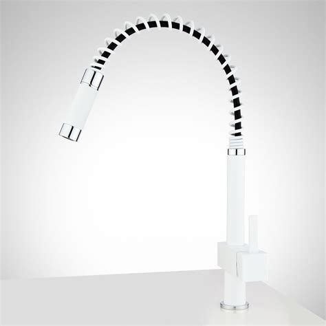 4 Hole Kitchen Faucet White