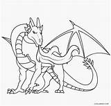 Dragon Coloring Pages Realistic Printable Cool2bkids sketch template