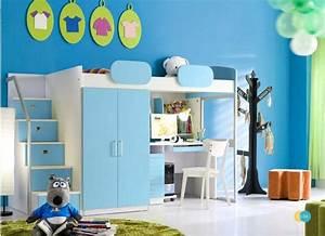 Kinderzimmer Mit Schreibtisch : hochbett geko schreibtisch schrank treppe in blau ~ Michelbontemps.com Haus und Dekorationen