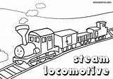Train Coloring Steam sketch template