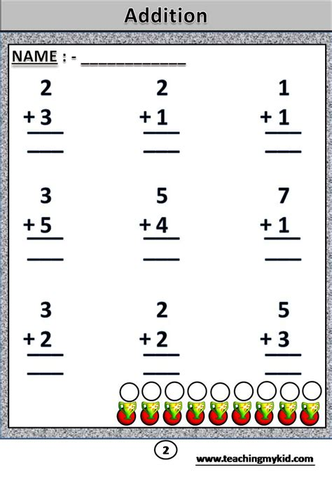 Common Core Maths Addition Printable Worksheet Without Carry