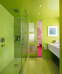 etagere de douche integree pour un confort optimal With porte de douche coulissante avec tapis salle de bain vert pomme