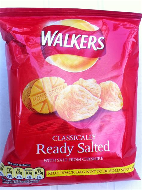 salted ready crisps walkers classically