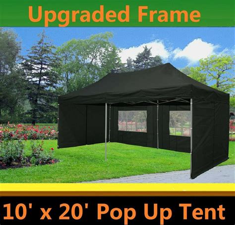 pop  canopy party tent black  model upgraded frame ebay
