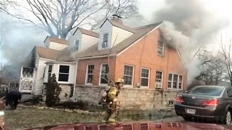 early video  prince georges county md house fire