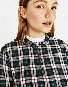 women39s shirts spring summer collection 2018 bershka With chemise a carreaux fille