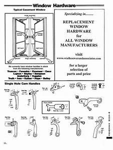 Casement Window Diagram  U2022 Single Hole Cam Handles