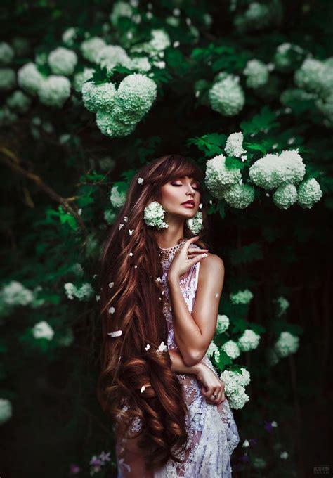 flower maiden fantasy beautiful art fashion photography