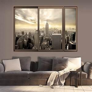 Wand Poster New York : 3d wandillusion wandbild fototapete poster xxl fensterblick vlies c c 0070 c a ebay ~ Markanthonyermac.com Haus und Dekorationen
