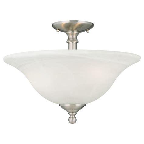 nickel semi flush ceiling lights thomas lighting riva 3 light brushed nickel ceiling semi