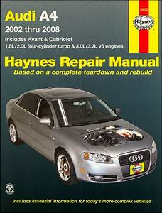 Audi A4 Sedan  Avant  Cabriolet Repair Manual 2002