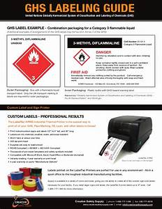 guide ghs labeling and information on ghs label printer With ghs labeling guide