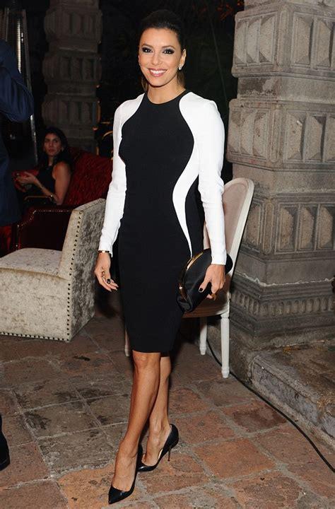 Eva Longoria stuns in elegant body con dress as she attends art gallery opening in Mexico ...