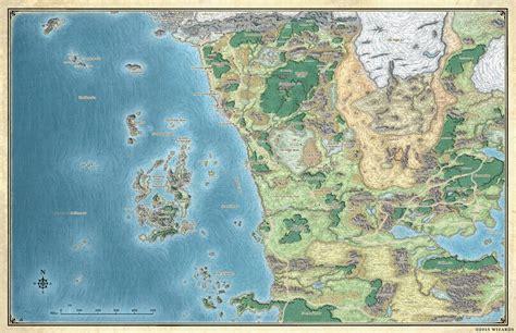 updated map  northwest faerun dnd