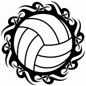 Volleyball Tribal Blk Wht   Free Images at Clker.com ...