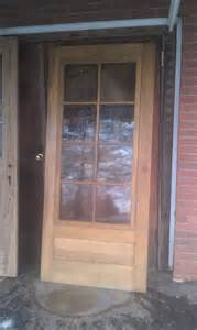 Wooden Storm Doors with Glass