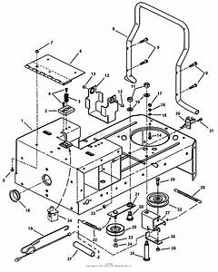 Snapper Yz13381be 38 U0026quot  13 Hp Ztr Yard Cruiser Series 1 Parts Diagram For Rear Frame Assembly