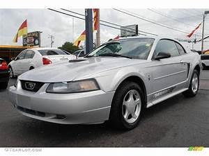 2002 Satin Silver Metallic Ford Mustang V6 Coupe #15717307 Photo #2 | GTCarLot.com - Car Color ...